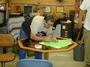 Jim working ona kite