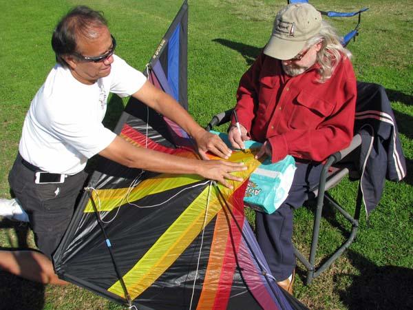 Don signing Charles' TOTL kites.